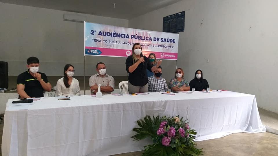 Itapororoca realizou II audiência pública da saúde.