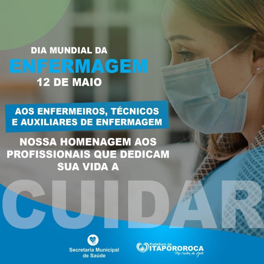 Prefeitura de Itapororoca parabeniza os profissionais de Enfermagem pelo seu Dia
