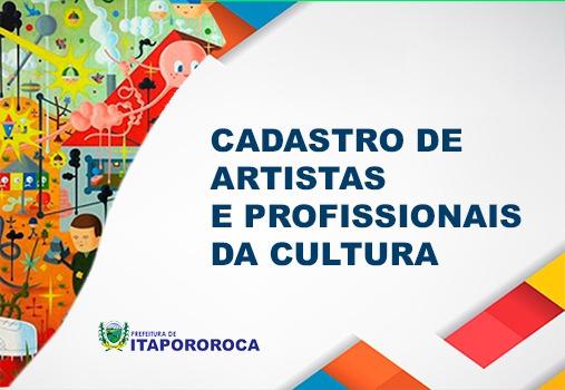 Cadastro de Artistas e Profissionais da Cultura