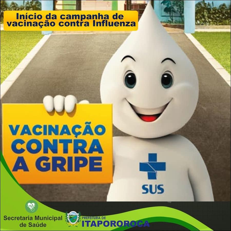Campanha de imunização contra Influenza.