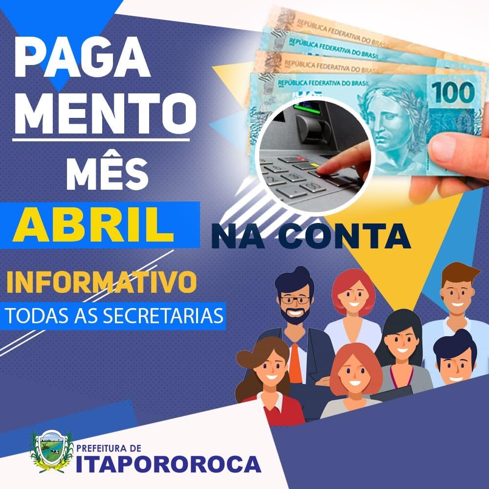 PAGAMENTO (COMUNICADO)